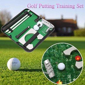 Generic F P Lot d'entraînement Putter de golf LF Mett Ter Trainin Portable Voyage Intérieur Putter donnant Practise kit Oor Club Bal Club Boule