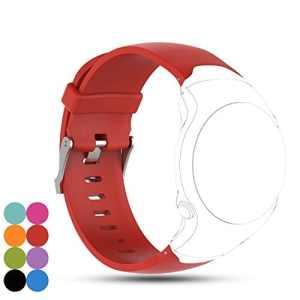 Pour Garmin Approach S3montre GPS de golf Band, Ifeeker accessoire en gel de silicone de remplacement Bracelet Dragonne Bracelet pour Garmin Approach S3montre GPS de golf Taille unique Red