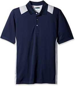PGA – Chemisier – Motifs – Manches Courtes Homme – Bleu – 2X (US Taille) (US Taille)
