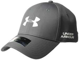 Under Armour – Men's Golf Headline 2.0 Cap – Casquette de Golf – Homme – Gris (Rhino Gray) – Taille: L-XL