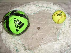 Filet de pêche, football, basket-ball, cage, objectif, barrière, filet. Choisissez votre taille, blanc
