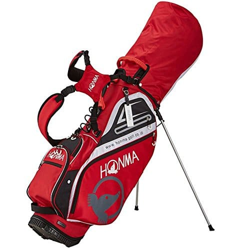 Clan Golf Japon Cb-1811pour Homme léger Support Caddy Sac (Rouge) 2018Modèle 本間ゴルフ ホンマ キャディーバッグ レッド