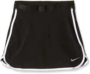 Nike Girl's Skort Jupe-Fille M Negro/Plata