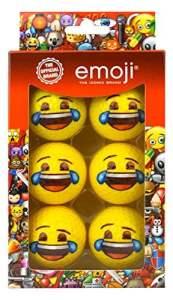 Emoji Coussin Lot de 6Pleurs Unisexe avec Rire Fantaisie de balles de Golf, Multicolore