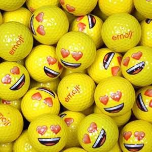 Emoji EMGBB002 Lot de 48 Balles de Golf Mixte Adulte, Blanc, N/A