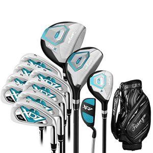 GSCshoe Club de Golf Femmes Golf Débutant 12 Pièce Golf Club Set Rose Golf Putter Golf Practice Club Set pour Dames avec des Gants Conducteur de Tige de Fairway (Couleur : One Color, Taille : A2)