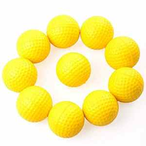 HATCHMATIC 10Pcs / Set Balles de Formation Aide Balle de Golf en Plein air Orts Balles de Golf Jaune Golf Pract Formation de Haute qualité