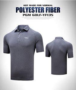 HWTP T-Shirt de Golf pour Hommes 2019 Pgm Anti-Sueur T-Shirt à Manches Courtes pour Hommes Sports de Plein air à séchage Rapide Tops AA11832,Gray,L