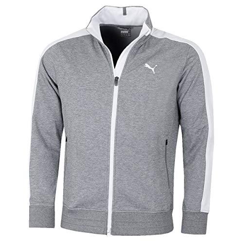 Puma Golf Mens T7 Track Jacket – Medium Grey Bruyère – XL