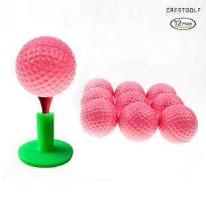 Crestgolf Foam Ball Practice Practice, 5 Couleurs pour Votre chioce(Pink)