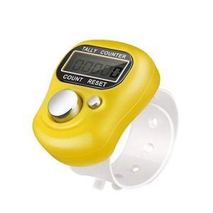 Mini compteur compact de point de plastique et compteur de doigt de rangée Compteur électronique électronique de point de vente d'affichage à cristaux liquides au hasard pour n'importe quel Knitter