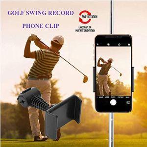 Support de téléphone de Golf Swing Record Aid Rotation à 360 ° Chariot de Golf Universel Buggy Cart GPS Golf Mentor Entraînement Alignement Bâton Sac Clip Mount Mount Pince réglable