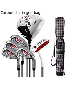 HDPP Club De Golf Alliage De Titane pour Bâtons De Golf pour Bâtons De Golf pour Hommes De Golf pour Hommes De Golfcarbon Gun 6 Piece