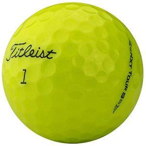 lbc-sports Paire de balles de Golf en Titane Nxt Tour S AAA Jaune Lakeballs Modèle 2017/2015, lbc-6128-var-12-200, Jaune, 200 Bälle