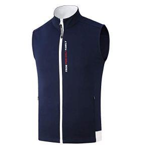 2019 Nouveau PGM Vêtements De Golf Coupe-Vent Hommes Gilet De Golf Veste Automne Hiver Garder Au Chaud sans Manches Zipper Gilet De Golf Vêtements,Blue,XL