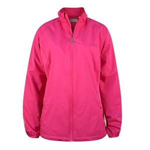 Callaway Ladies Full Zip Wind Jacket Veste de Golf, Femme XL Rose