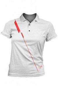 Fayde Golf pour femme broches Mode Polo, Fayde Europe pour femme Mode Golf Polo pour femmes, Golf pour homme, femme Polo pour femmes, Polo T pour homme, Confort Tastex hygiénique Finition, tissu de sauvetage, évacuation de l'humidité., blanc
