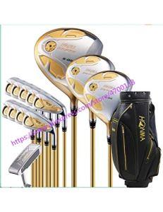 HDPP Club De Golf Ensemble De Clubs De Golf 4 Ensembles De Clubs De Golf Étoiles Driver + Fairway + Fer À Repasser + Putter (14 Pièces)