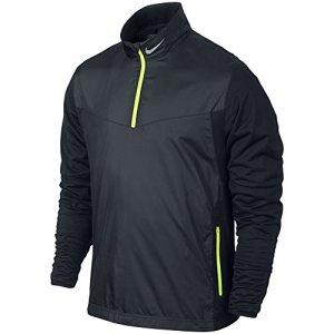 Nike Men's Golf Shield 1/2 Zip Top, Black, Medium