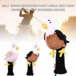 chifans Couvre-tête de Golf en Forme d'animal Amusant pour Driver de Golf Compatible avec Toutes Les Marques, Rose, A