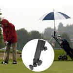 KEENSO Golf Push Trolley Porte-Parapluie, Réglable Golf Push Trolley Porte-Parapluie en Plastique Stand Pull Bike Cart Noir Universel