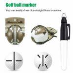 5 Pièces Kit d'Outils de Nettoyage de Golf Comprennat Serviette de Golf en Microfibre à Motif Gaufré, Brosse de Golf, Doublure de Balle de Golf, Stylo Marqueur de Balle de Golf et Outil de Golf Divot