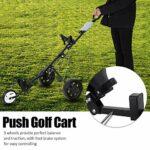 Dibiao Chariot de golf pliable durable à 3 roues avec système de frein à pied