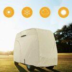 Explorez Land 100% étanche Golf Cart Couverture Universelle pour pour 2/4Passenger Golf Cart (Tan), Peau, Fit for 4 Passenger Cart