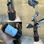 Saicowordist Support de club de golf – 1 pièce de support de club de golf organisateur pour 6 clubs de golf (gris)