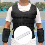 BESPORTBLE Plaques en acier de 4 pièces pour plaques d'entraînement de force de gilet pondéré pour l'exercice physique