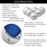 HUANGDANSEN Golf 10 Pcs Super Longue Distance Soft Feel 3 Piece Ball Soft Feel Ball pour la compétition Professionnelle | Balles de Jeu de Golf