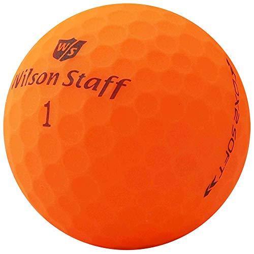 lbc-sports Wilson Staff Dx2 / Duo Soft Optix Balles de Golf – Lot de 24 – AAAAA – Selection Premium – Orange – Finition Mat – Lakeballs – Balles de Golf usées