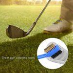 Brosses de Club de Golf – Brosses en Plastique Double Face pour Nettoyeur de Club de Golf avec Outils de Nettoyage à Double Poils 2PCS(Bleu)