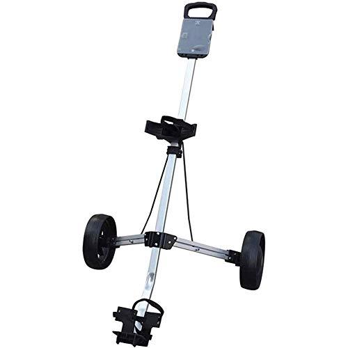 H-BEI Chariot de Golf Chariot de Golf Poussoir Manuel Chariot de Golf à Deux Roues Chariot de poussée à Deux Roues Charte de Balle Pliable Chariot de Golf de Golf
