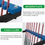 Support de Club de Golf Support de Plancher de Support D'affichage de Club de Golf – Stockage D'équipement de Golf pour Terrain de Golf/ Magasin/ Arrière-cour – Porte-organisateurs en Métal À 9 Trous