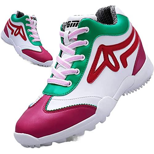 WBS Chaussures de Golf pour Femmes, Chaussures de Golf pour Femmes, Été, imperméabilisée, Chaussures de Golf en Microfibre en Microfibre, Chaussures de Sport, Chaussures de Formation de Golf Club
