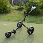 Chariot À 3 Roues Chariot De Golf À Pousser À Tirer Petit et Léger pour Les Sports de Golf en Plein Air