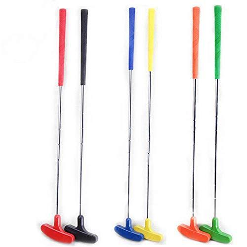 Clubs de Golf 6 Pcs Putter de Golf Classique bidirectionnel Premium Grip et Putt Putt Style tête bidirectionnelle pour Droit pour Les Enfants de 3 à 12 Ans Club Polyvalent et fiable (Couleur