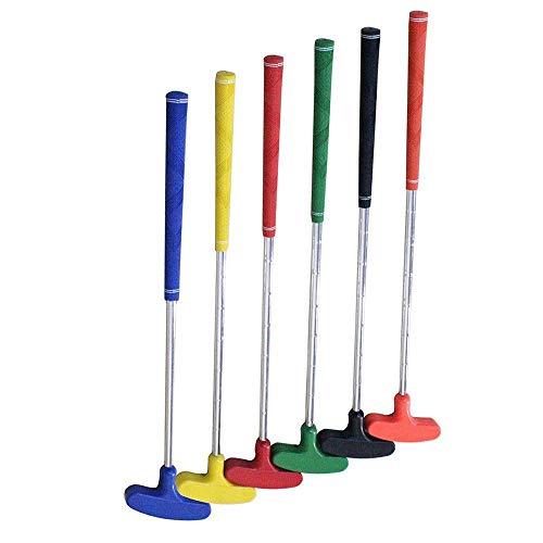 Clubs de Golf 6 Pcs Putter de Golf Junior bidirectionnel Clubs de Golf pour Enfants Putters de Longueur 23-33″ Couleurs Assorties Club Polyvalent et fiable (Couleur : comme indiqué, Taille :