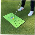 EElabper Frapper Golf Swing Golf Mat Pad Pratique Portable Golf Tapis Coussin de Formation pour Swing détection Batting Vert