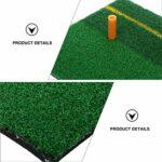 Garneck 1 Set Golf Pratique Pratique Pad Tapis De Départ De Golf Pratique Frapper Mat pour Intérieur Extérieur