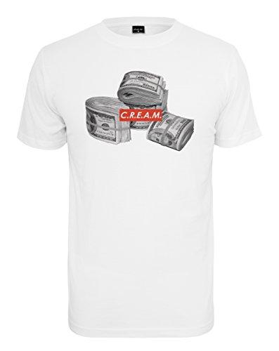Mister Tee C.R.E.A.M Bundle Tee T-Shirt, White, M