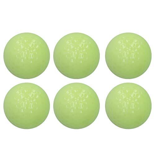 MOH 6 pièces/Ensemble Balle de Golf Lumineuse Double Couche balles de Golf fluorescentes de Nuit pour la Pratique du Golf Accessoires de Golf