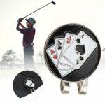 MOH Clip de Chapeau de Golf Poker – 1 pièces Carte de Poker en métal marqueur de Balle de Golf Compact Clip de Chapeau magnétique Pince à Capuchon Fournitures de Cadeau