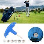 PBOHUZ Outil de Golf Accessoire de clé de Clubs de Golf de qualité Portable avec kit d'outils de vis de Poids pour Adms