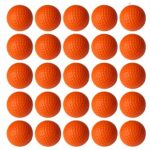 VUXYMCY Lot de 25 balles de golf en mousse PU élastique pour entraînement intérieur et extérieur Orange