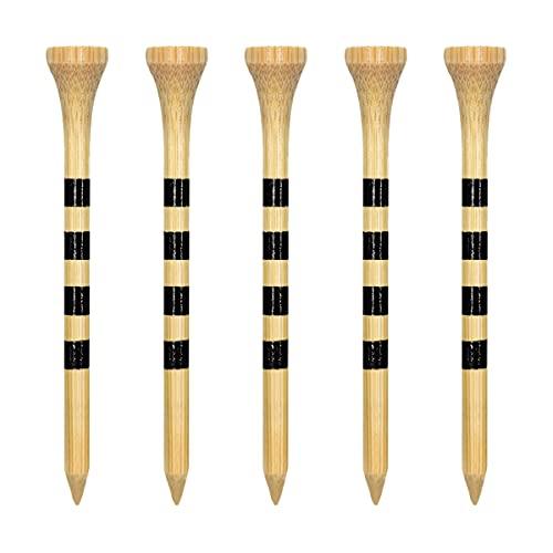 Zivisk Tee Golf Bois 70mm Lot de 100 Tees Golf en Bambou 2-3/4 Pouces(2-3/4″,Couleur Naturelle)