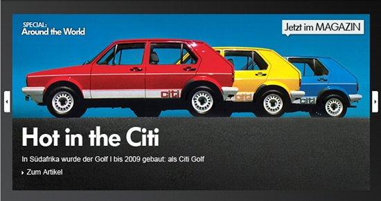 citigolf Volkswagen classic