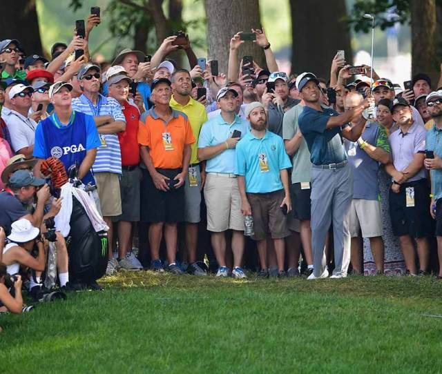 Tiger Woods Went Well Left On The 15th Hole At Bellerive But He Still Made