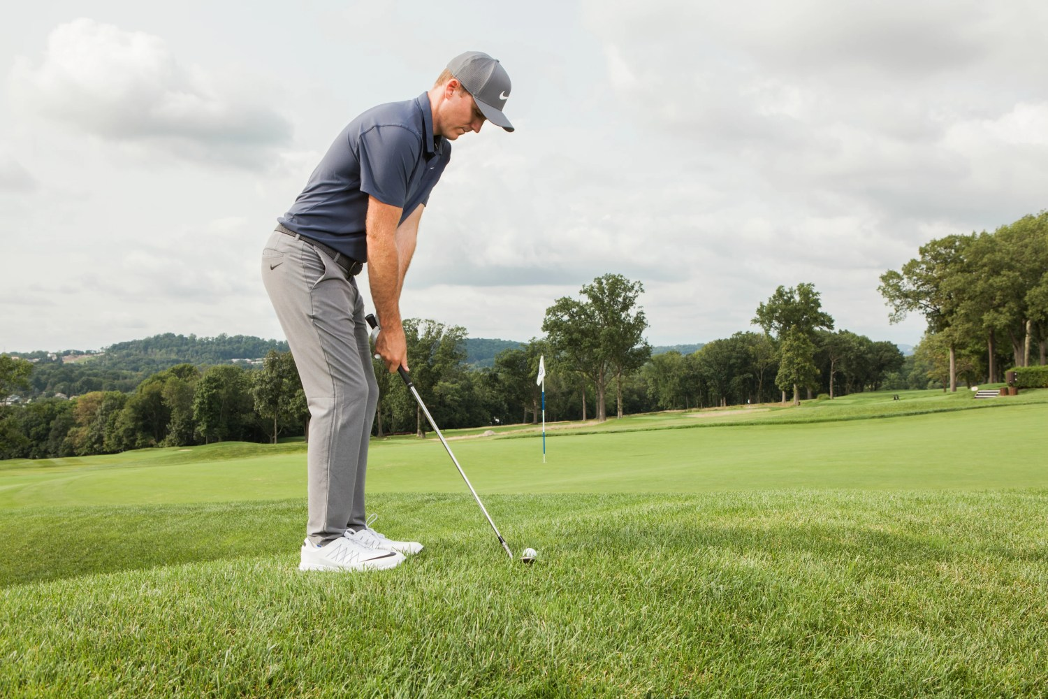Russell Henley Awkward wedge tip Titleist photo shoot day 1 Montclair Golf Club, Montclair, New Jersey, USA 8/20/18 GF-144 TK1 Credit: Patrick James Miller